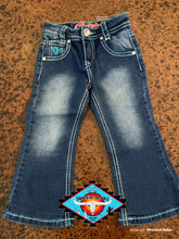 Load image into Gallery viewer, Cowgirl Hardware 'blue rhinestone' toddler jean