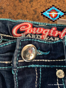 Cowgirl Hardware 'blue rhinestone' toddler jean