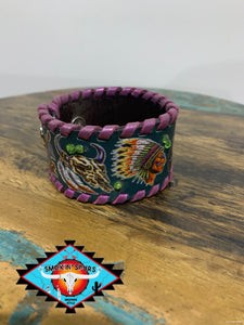 Smokin'Spurs'Southwest CUFFS & RAFTER T RANCH CUFF