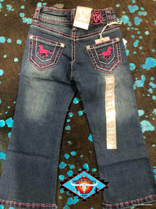 Cowgirl Hardware 'horse love' toddler jean
