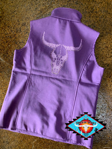 Women's Cowgirl Hardware poly shell vest !!