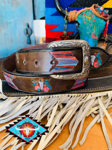 Smokin'Spurs 'southwestern patina' belt.🔸🔅🔻🔺