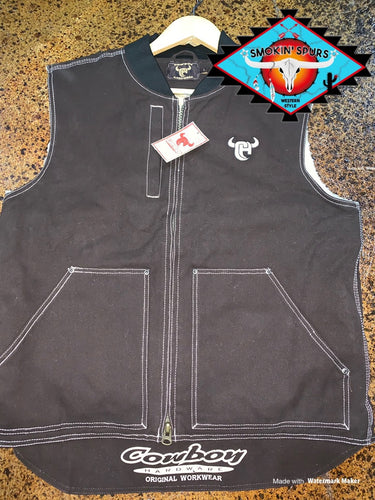 Cowboy Hardware canvas vest men's Large