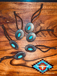 Concho hair ties ... (braided elastic)