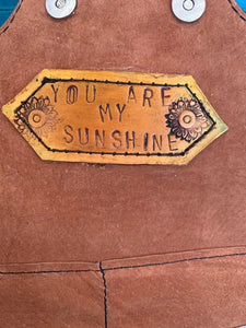 Smokin'Spurs the 'NASH' trifold wallet 'you are my sunshine'
