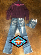 Load image into Gallery viewer, Cowgirl Hardware 'silver edge' Jean