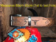 Load image into Gallery viewer, Men's leather belts ... 'southwestern patina' various styles and sizes!