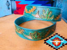 Load image into Gallery viewer, Smokin'Spurs 'southwestern patina' belt.🔸🔅🔻