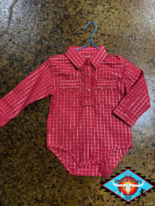 Wrangler toddler romper shirt (12m) LAST ONE