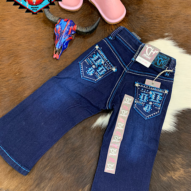 Cowgirl Hardware 'BLUE AZTEC' toddler jean