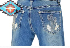 Cowgirl Hardware 'CACTUS ' Jean light denim.