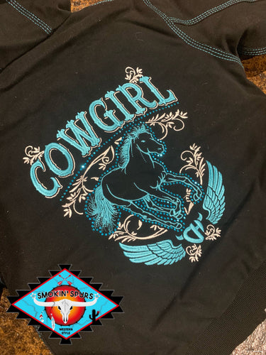 Cowgirl Hardware canvas shell hooded jacket