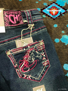 Cowgirl Hardware 'beautiful horse' jeans