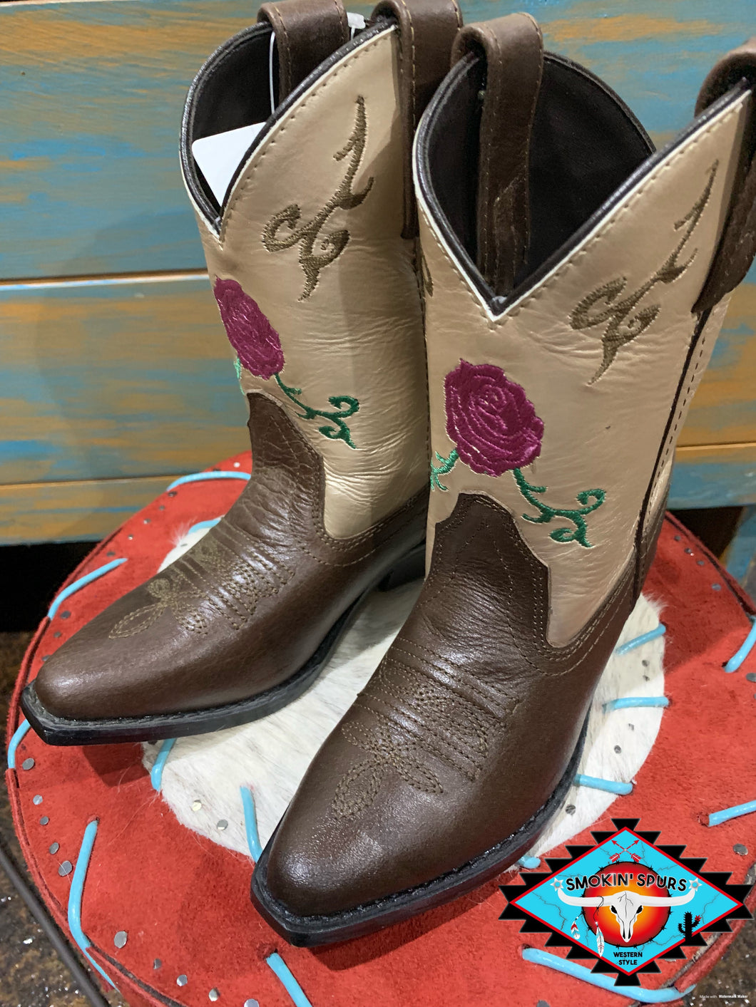Smoky Mountain youth 'rose bud' boot