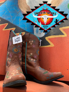 Smoky Mountain leather boot 'BLOSSOM'  youth  4-7