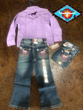 Load image into Gallery viewer, Cowgirl Hardware 'lilac' shirt (last one size 4t)