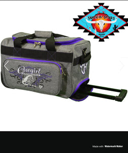 MEDIUM Cowboy & Cowgirl Hardware duffle roll bags!