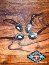 Load image into Gallery viewer, Concho hair ties ... (braided elastic)