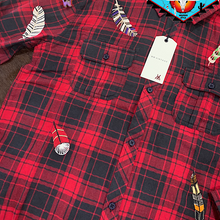 Load image into Gallery viewer, Miss Me vintage plaid shirt