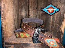 Load image into Gallery viewer, Smokin'Spurs 'Southwestern Patina' cactus belt