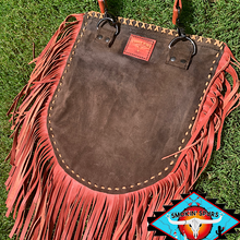 Load image into Gallery viewer, Smokin'Cactus 'Daisy Trail' Hair on leather crossbody
