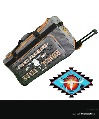 LARGE Cowboy & Cowgirl Hardware duffle roll bags!