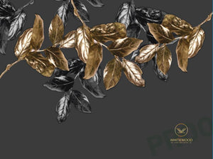 Gold Leaves Greaseproof Paper - Bulk*