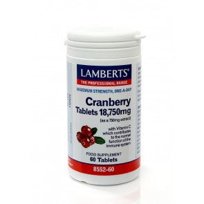 *H01-8552/60 Lamberts Cranberry Tablets 18750mg