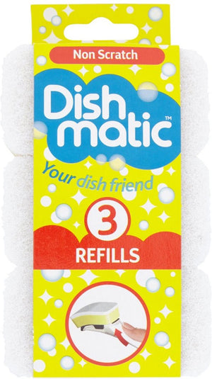 Dishmatic Non Scratch Refills (3)*