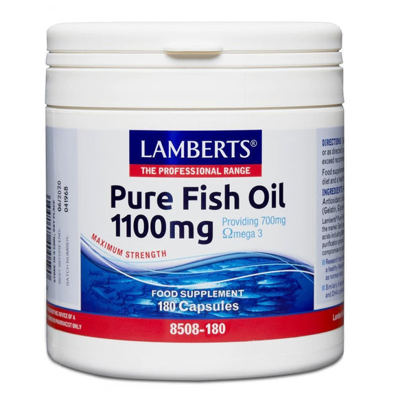 *H01-8508/180 Lamberts Pure Fish Oil 1100mg