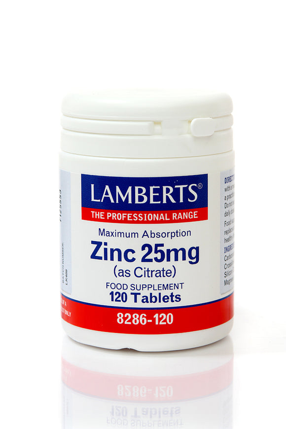*H01-8286/120 Lamberts Zinc 25mg (as citrate)