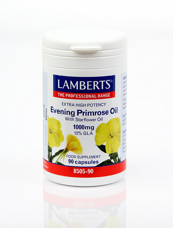 *H01-8505/90 Lamberts Evening Primrose With Starflower Oil 1000mg - Extra High Potency