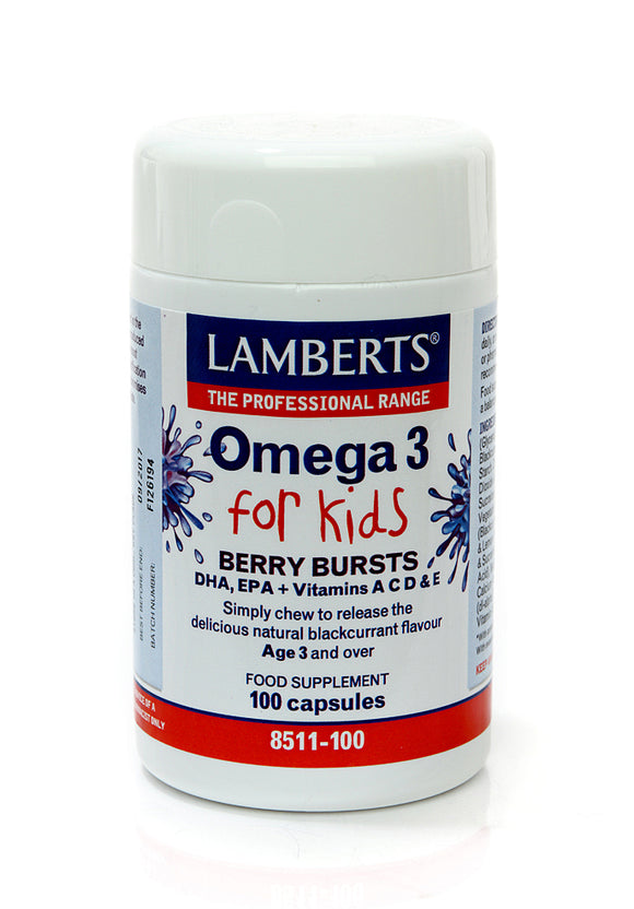 *H01-8511/100 Lamberts Omega 3 For Kids (Berry Bursts)