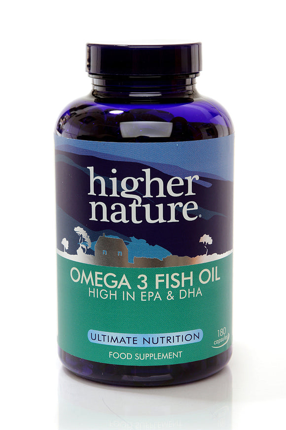 *H02-FIS180 Higher Nature Omega 3 Fish Oil Capsules