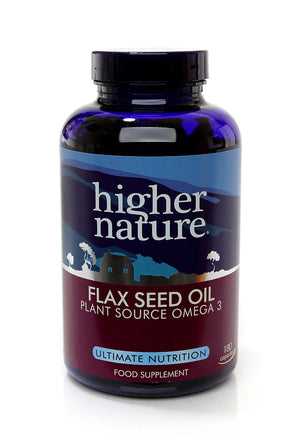 H02-OEFC180 Higher Nature Flax Seed Oil Capsules*