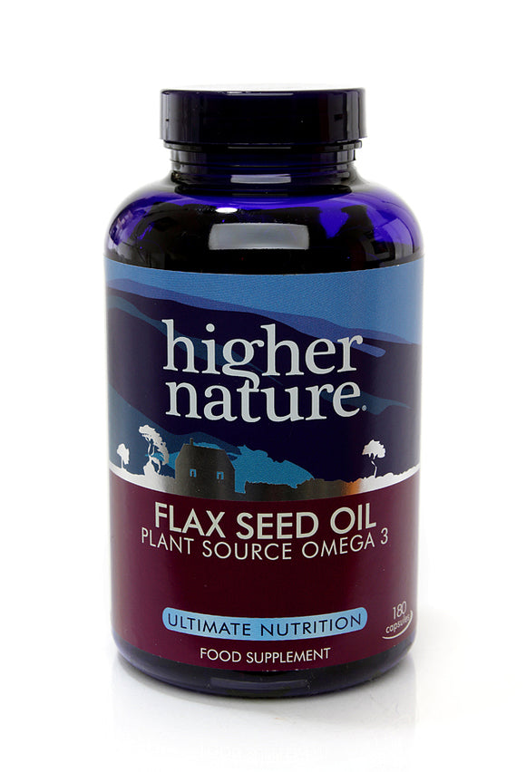 *H02-OEFC180 Higher Nature Flax Seed Oil Capsules