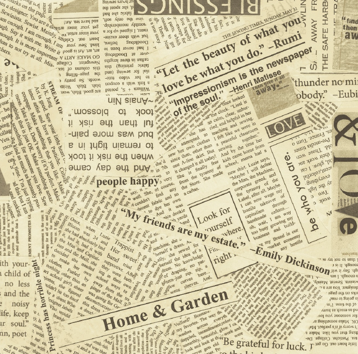 Newspaper Greaseproof Paper (x12)*