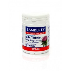 *H01-8589/60 Lamberts Milk Thistle 3000mg