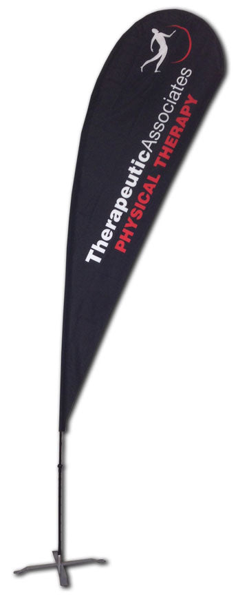 TEARDROP FLAG - LARGE 14 FT with CROSSBASE