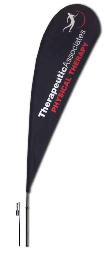 TEARDROP FLAG - LARGE 14 FT with GROUND SPIKE