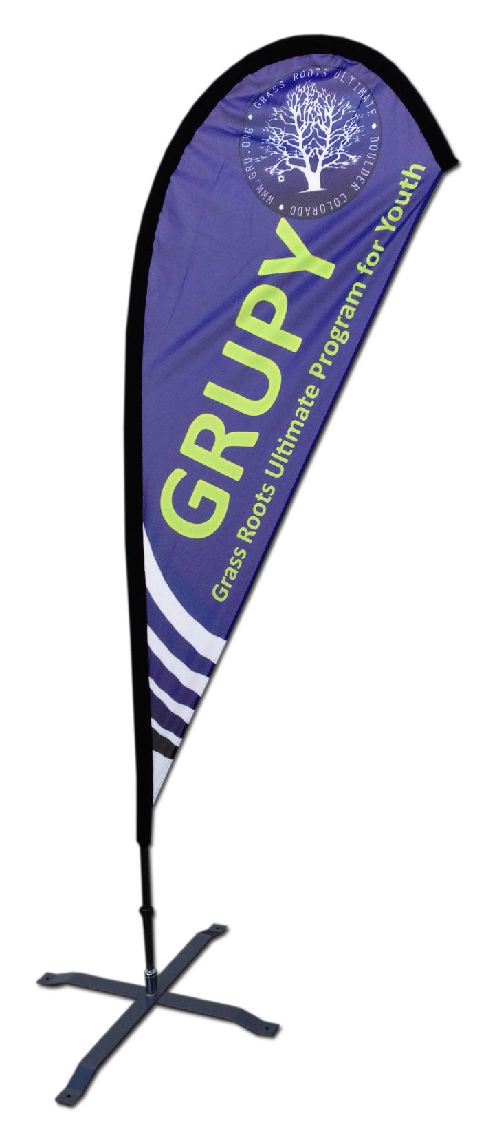 TEARDROP FLAG - SMALL 8 FT with CROSSBASE