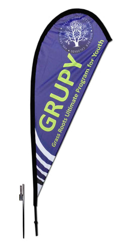 TEARDROP FLAG - SMALL 8 FT with GROUND SPIKE