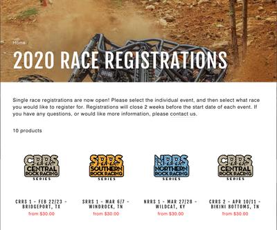 Single Race Registrations Now Live