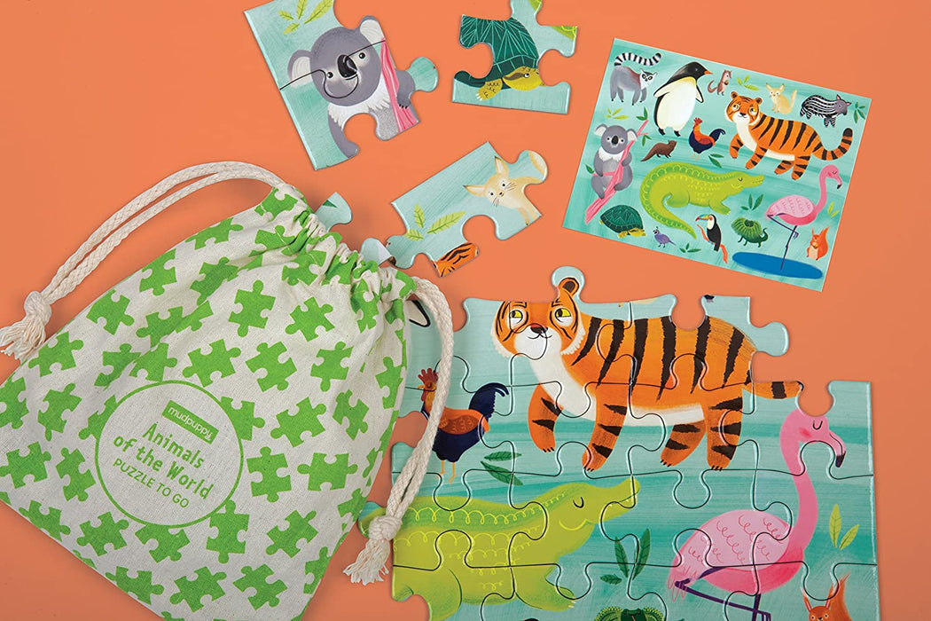 Animals of the World Puzzle To-Go Activity Toys Hachette Book Group
