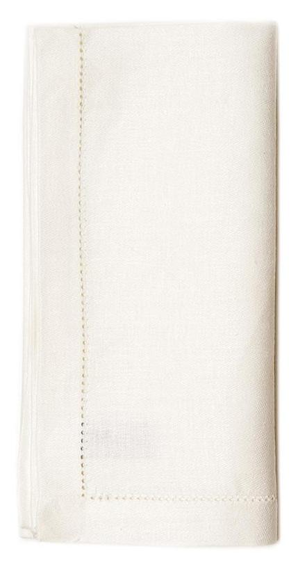 Atlas White Linen Dinner Napkins - Set of 4 Dinner Napkins Linen Way