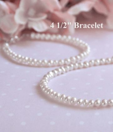 "Baby Jewelry Jewelry Collectible's America 4.5"" Pearl Bracelet"