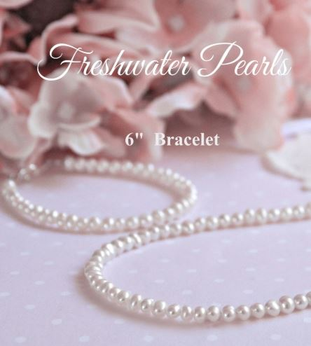 "Baby Jewelry Jewelry Collectible's America 6"" Pearl Bracelet"