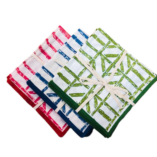 Bamboo Dinner Napkins- Set of 4 Dinner Napkins Pomegranate