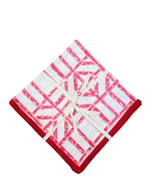 Bamboo Dinner Napkins- Set of 4 Dinner Napkins Pomegranate Rose