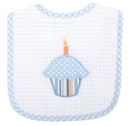 Blue Birthday Feeding Bib Bibs 3 Marthas